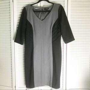 Tahari Color blocked Knit Jersey Dress 12